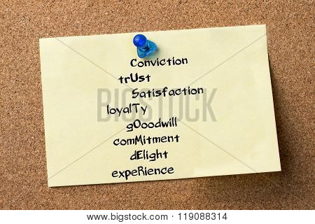 Conviction Trust Satisfaction Loyalty Gooodwill Commitment Delight Experience Customer - Adhesive La