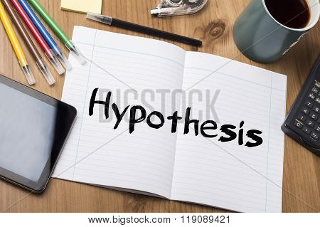 Hypothesis - Note Pad With Text