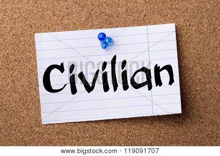 Civilian - Teared Note Paper Pinned On Bulletin Board