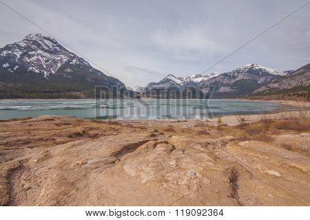Barrier Lake And Mount Baldy Landscape.
