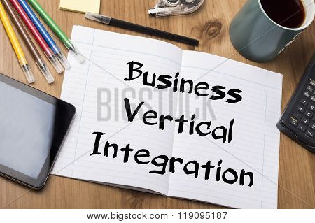 Business Vertical Integration - Note Pad With Text