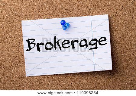 Brokerage - Teared Note Paper Pinned On Bulletin Board