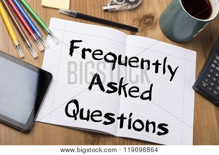 Frequently Asked Questions - Note Pad With Text