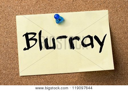 Blu-ray - Adhesive Label Pinned On Bulletin Board