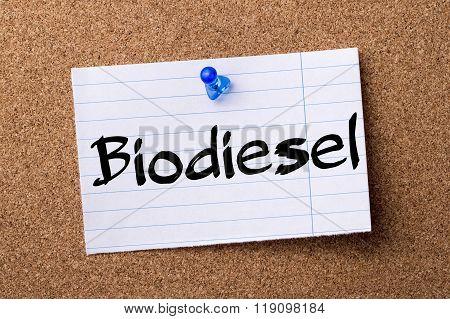 Biodiesel - Teared Note Paper Pinned On Bulletin Board