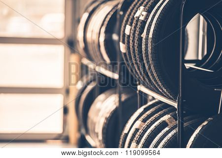 Car Tires Rack