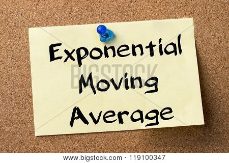 Exponential Moving Average Ema  - Adhesive Label Pinned On Bulletin Board