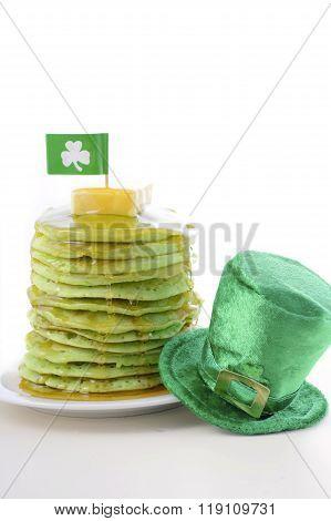 St Patricks Day Green Pancakes