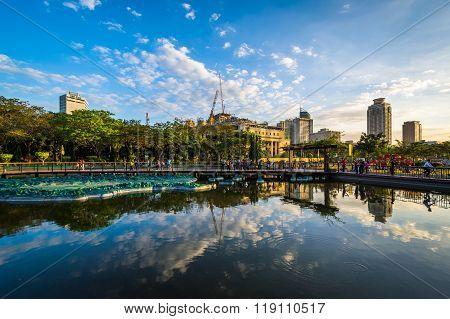 Pond At Rizal Park, In Ermita, Manila, The Philippines.