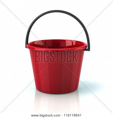 Illustration Of Red Bucket