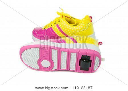 Pair Of Pink Heelys