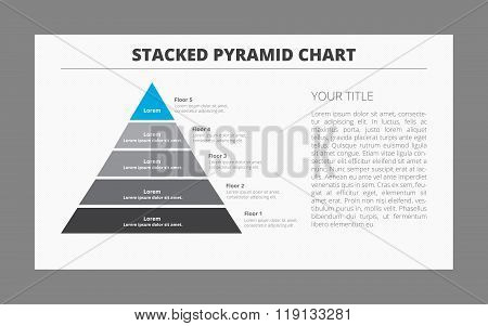 Five Floor Pyramid Chart Template