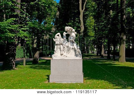 Saint-Petersburg. Russia. Cupid and Psyche Sculpture