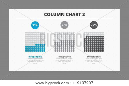Three Column Chart Template 2