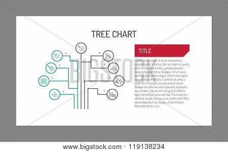 Tree chart with icons