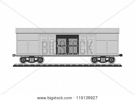 Boxcar With Freight