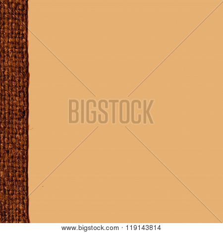 Textile Pattern, Fabric Burlap, Umber Canvas, Flax Material, Textured Background