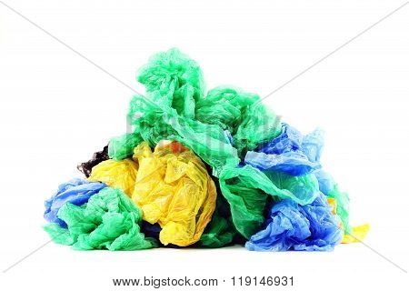 Plastic bags isolated on white