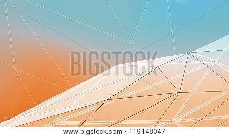 Photo of highly detailed multicolor vector background. Line art. Horizontal. 3d render