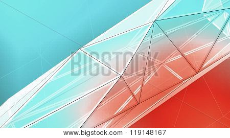 Concept of highly detailed color line background. Art background, horizontal. 3d render