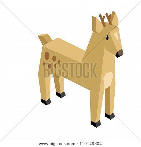 Wild Animal Deer Isometric 3d Design