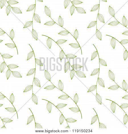 green leaves seamless