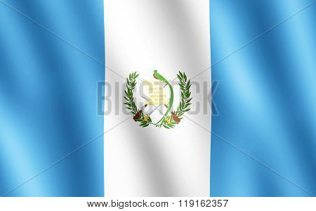 Flag Of Guatemala Waving In The Wind
