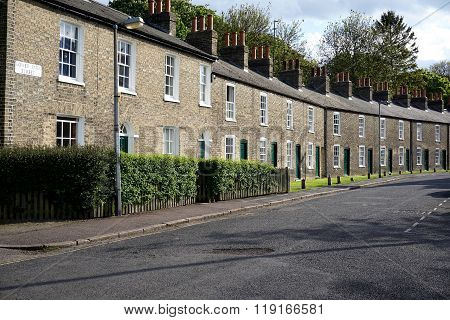 Row Of Houses, Cambridge, England