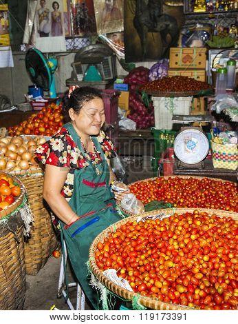 Women  Selling Fresh Vegetables