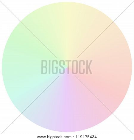 Vector Circular Gradient In Muted Rainbow Colors