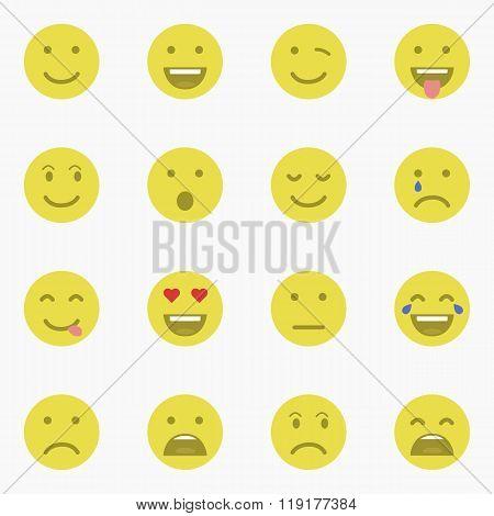 Set of Emoticons. Set of Emoji. Set of Avatar