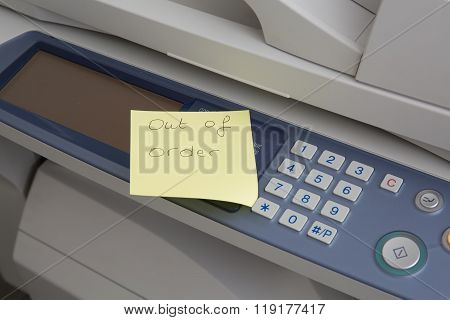 Copy Machine Out Of Order Post Design Over It
