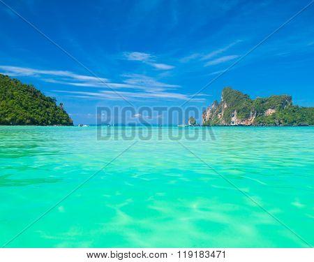Serenity Shore Ocean Panorama  poster