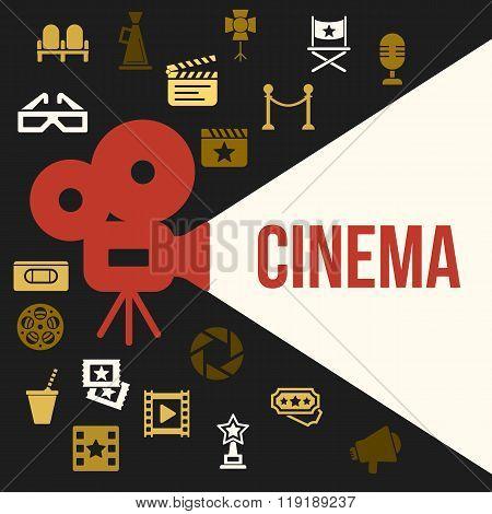 Cinema Retro Video Projector With Spotlight.