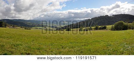 panoramic view, landscape Jeseniky, Czech Republic, Europe