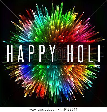 Happy Holi Indian Spring Festival, Colorful Splash Greeting Poster Background