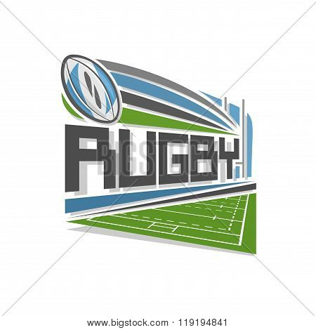 Vector logo for rugby sport