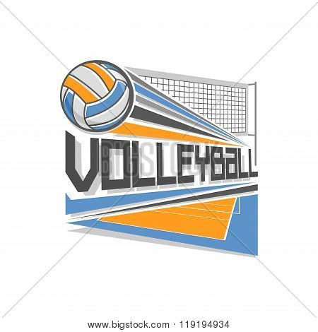 Vector logo for volleyball sport