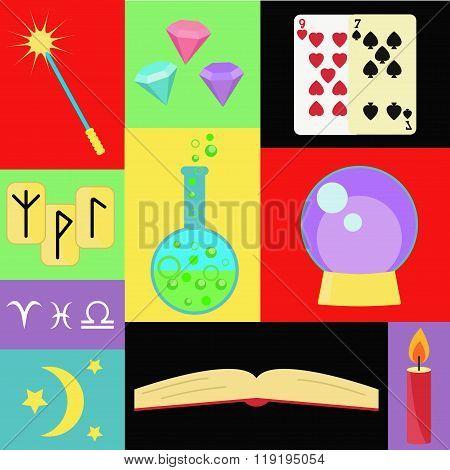 Fortune teller vector set