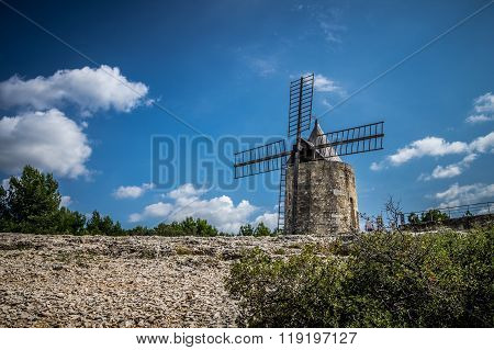 France Alphonse Daudet's windmill in Fontvieille du Provence
