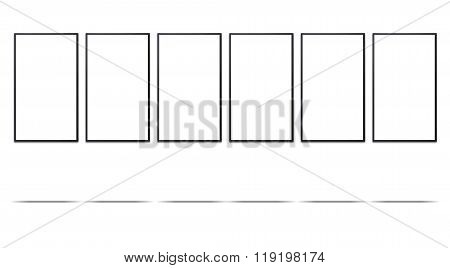 Advertisement Display On White Background