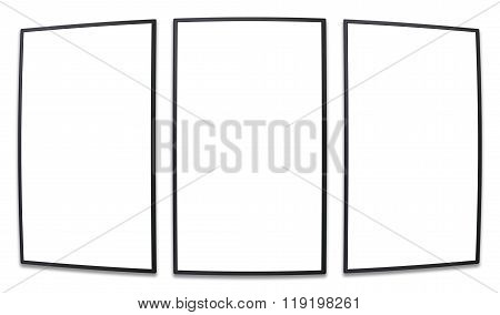 Vertical Perspective Screen Promotion Display Blank