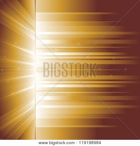Golden glow. Rays.