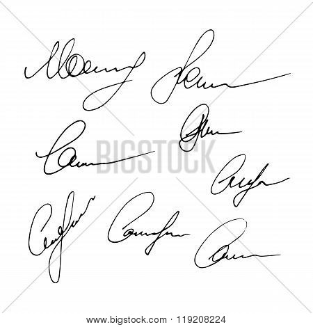 Set Of Signatures