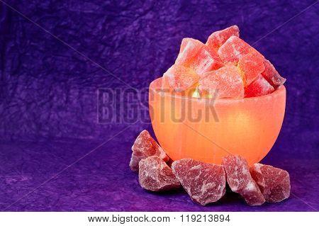 Himalayan Salt Lamp Turned On