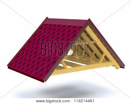 Roof Structure  Of Wooden House.