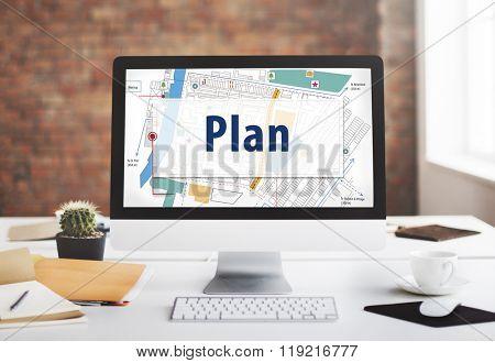 Plan Strategy Vision Tactics Design Planning Concept