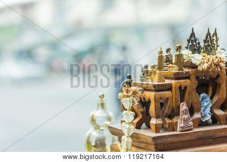 Thai Amulet Buddha In Car