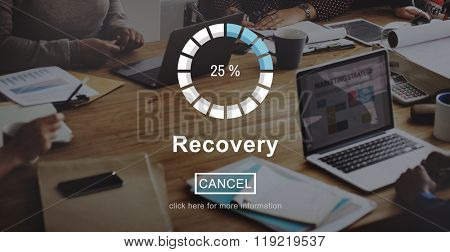Recovery Crisis Processing Loading Icon Concept