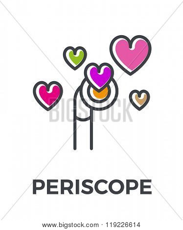 Periscope color line icon. Vector illustration.